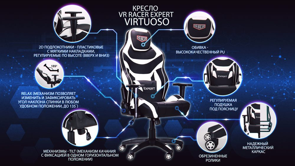 Модификация Кресло VR Racer Expert Virtuoso