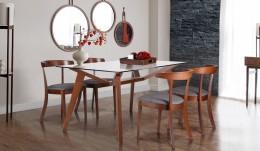 Обеденный комплект стол Мертон + стулья Гилфорд Графит