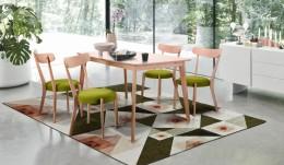 Обеденный комплект стол Чедер + стулья Пекорино Лайм