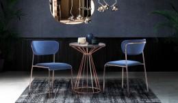 Комплект для ресторана стол Canary + стул Alphabet A Gold Royal Blue