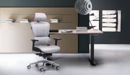 Кабинет руководителя стол Rise + кресло Crystal Alum Grey