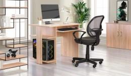 Домашний кабинет стол Eko EK-104 + кресло Чат Черный