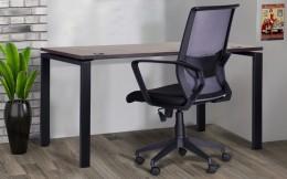 Домашний кабинет стол Сигма Sig-102 + кресло Tin Nova Black