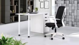 Рабочее место стол Blond BL-102 + кресло Nickel White Black